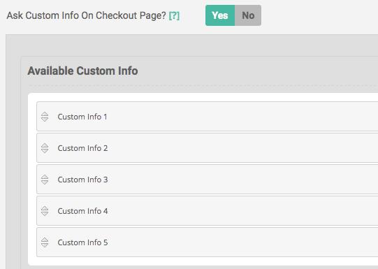 custom info