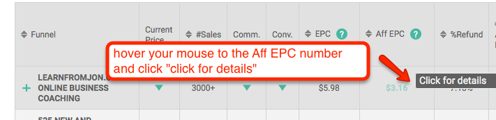 hover your mouse aff epc
